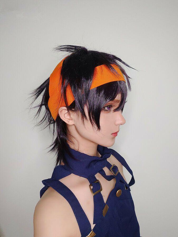 Photo of JoJo's Bizarre Adventure 5 Narancia Ghirga Costume Cosplay Anime Hair Wig #Ad, …