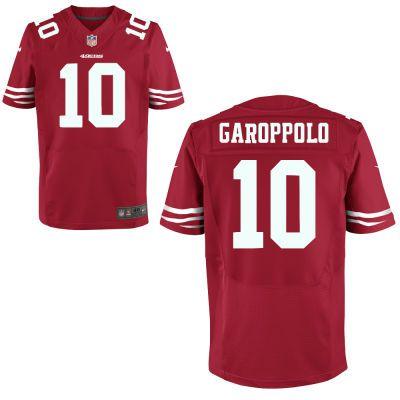 452655790 Nike NFL San Francisco 49ers  10 Jimmy Garoppolo RedElite Men s Jersey