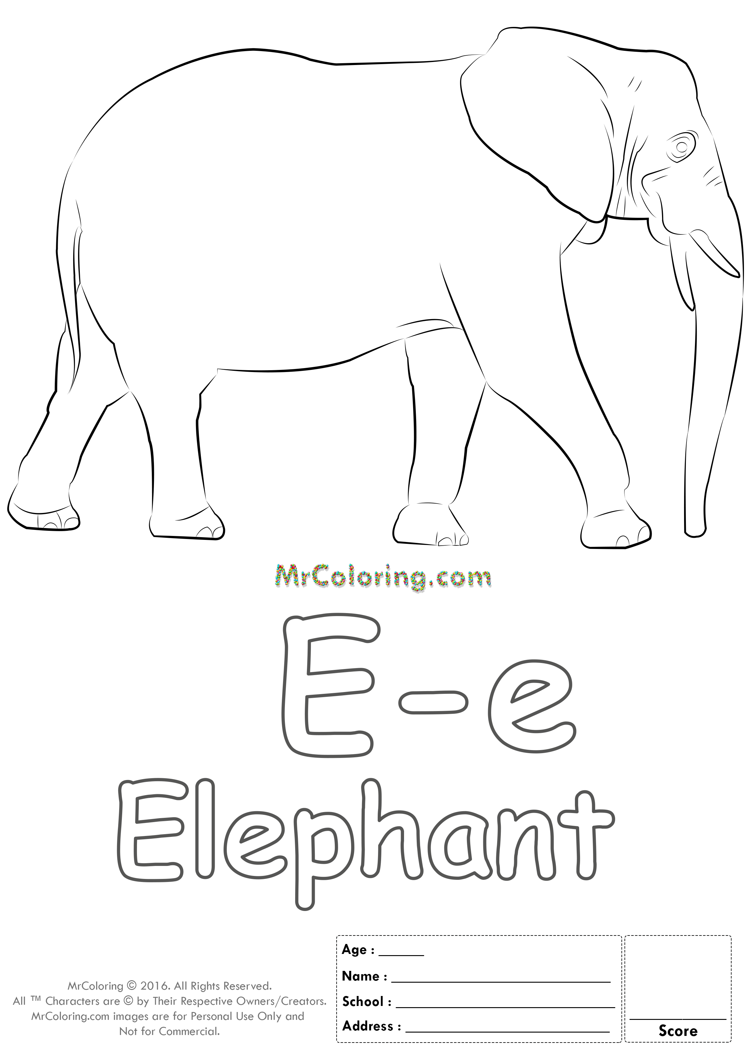 Alphabet Letter Ee Printable Coloring Pages Coloring