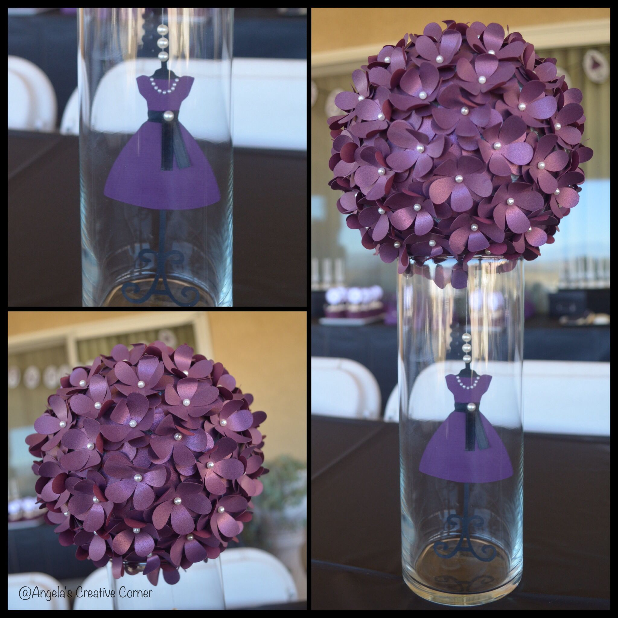 Flower ball dress form centerpieces party decor