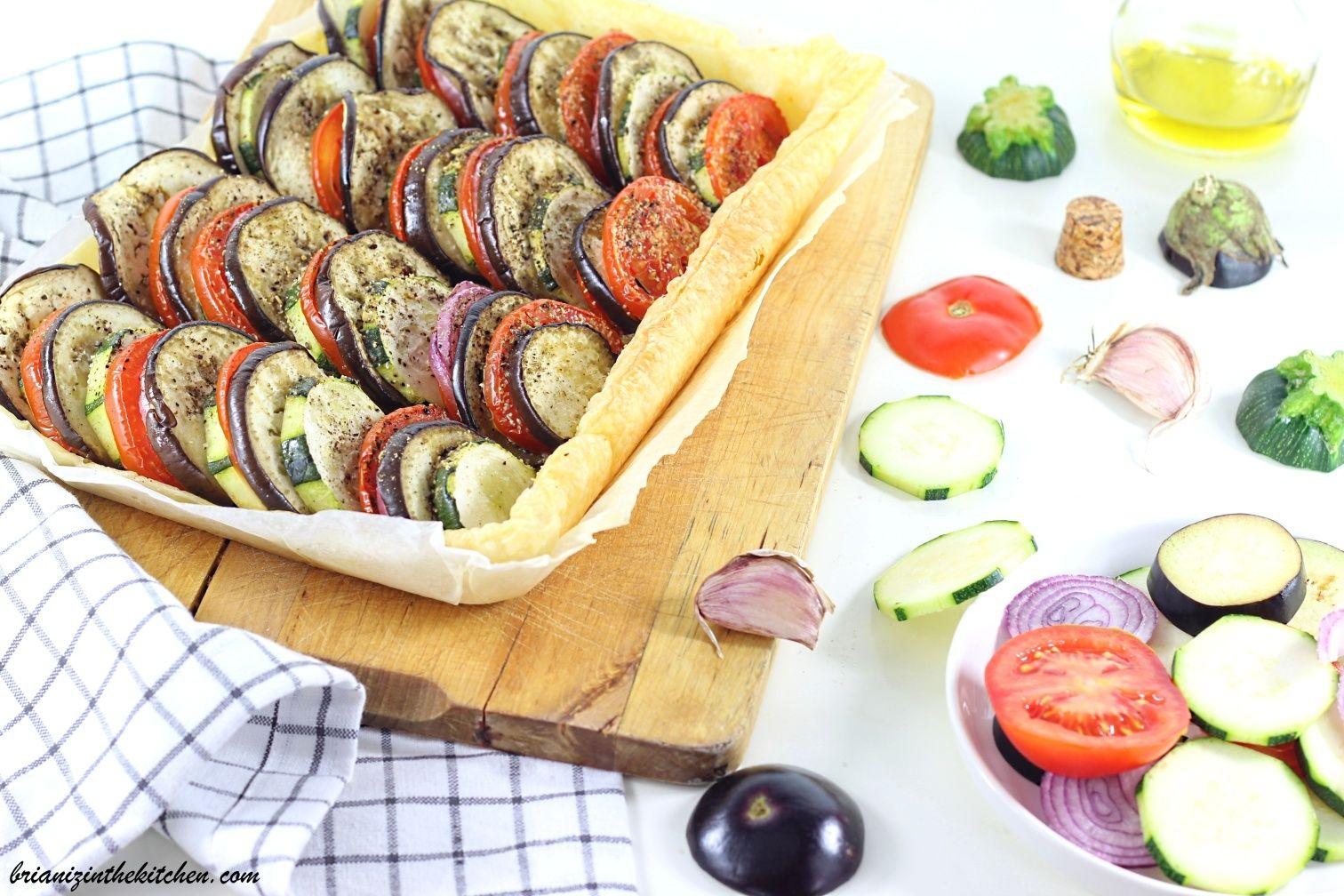 Recette Facile Du Tian Provencal tian provençal façon tarte feuilletée | radis, blÉ, oseille