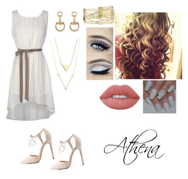 """""""E se...? - Look 3"""" by moongirl-385 on Polyvore featuring moda, Charlotte Russe, Gucci e Lime Crime"""