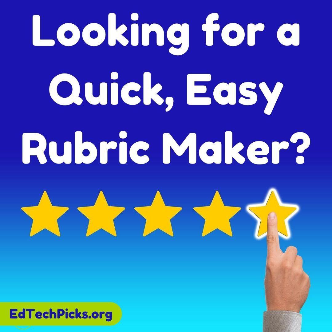 A Quick Free Rubric Maker