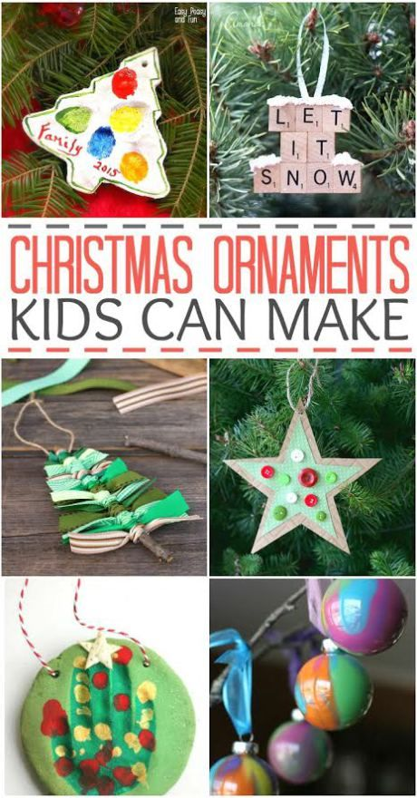 Christmas Ornaments That Kids Can Make Kids Christmas Ornaments Easy Christmas Ornaments Christmas Crafts