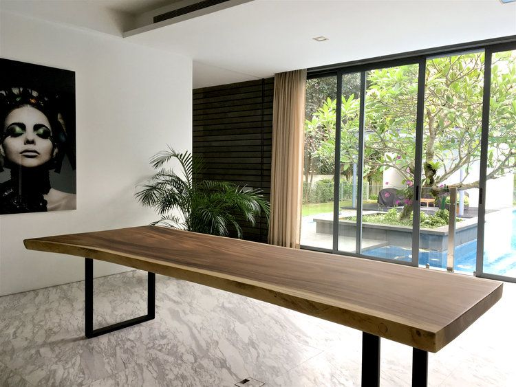Herman S Gallery Herman Furniture Singapore Solid Wood Slabs Specialist In 2020 Live Edge Dining Room Solid Wood Dining Table Wood Dining Table