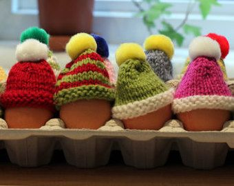 e09f88b7677 Who says eggs cant wear bobble hats too !