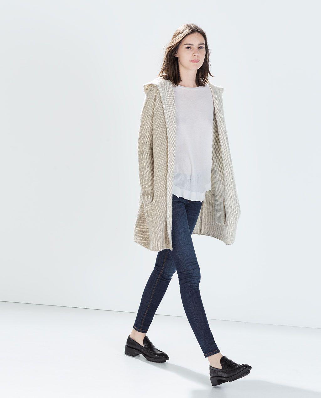625e15f8 ZARA - WOMAN - open knit jacket | Auntie Kathy's Style Board ...