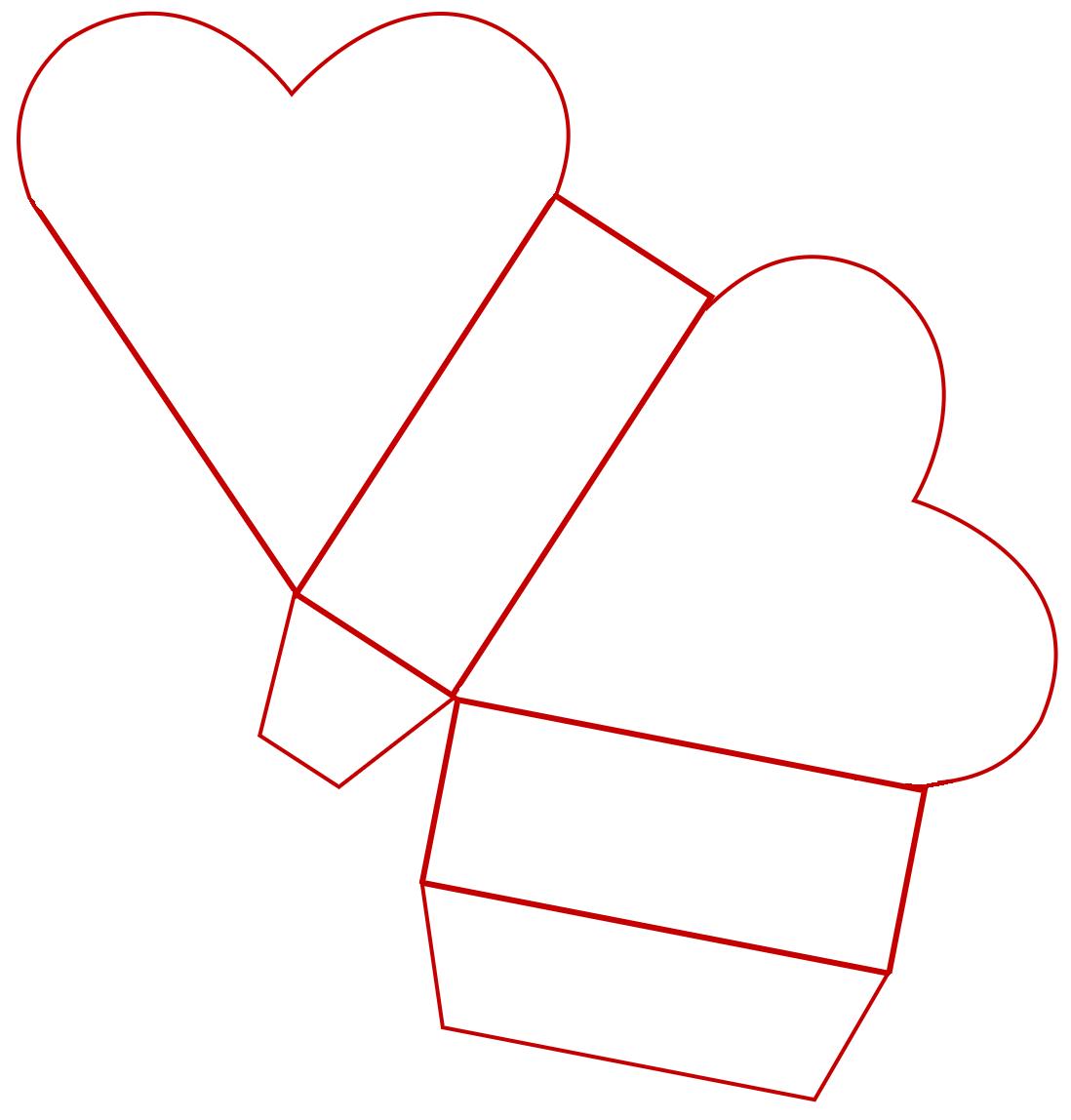 box templates free free craft projects valentine heart treat box