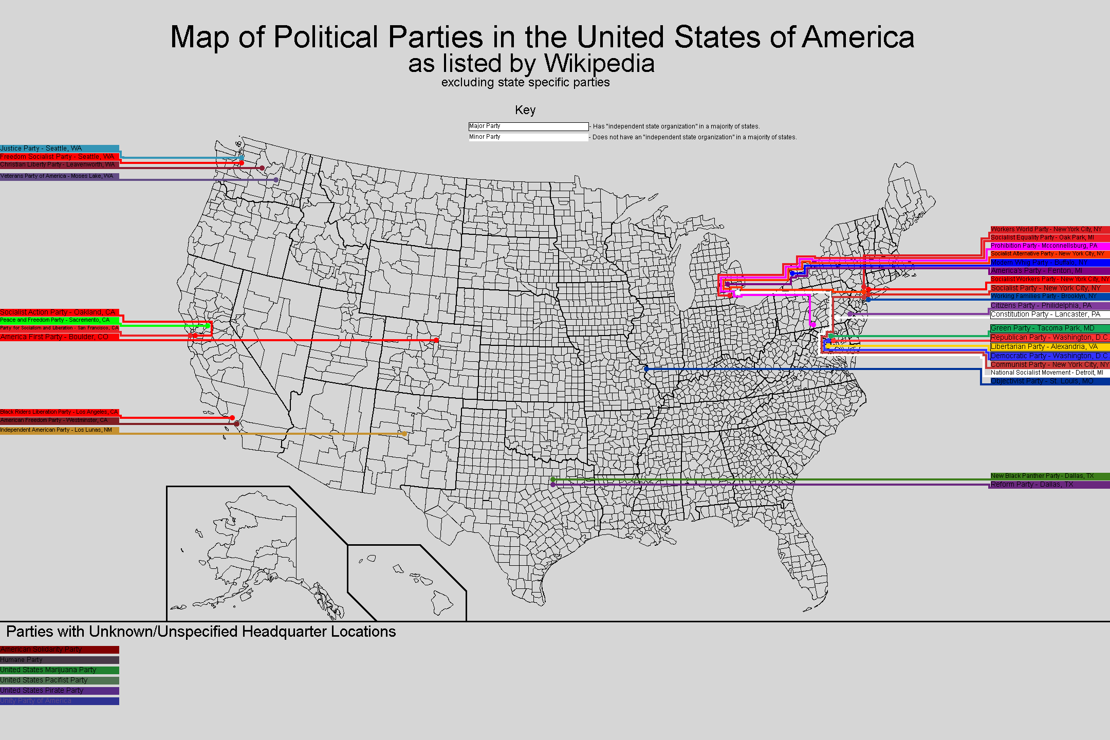 Map of Political Parties in the US MAPS Pinterest Political party