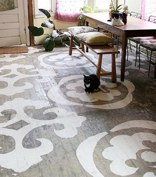 Coole Boden Streichen Ideen | Stenciled Floors | Pinterest Cooles Design Streichen