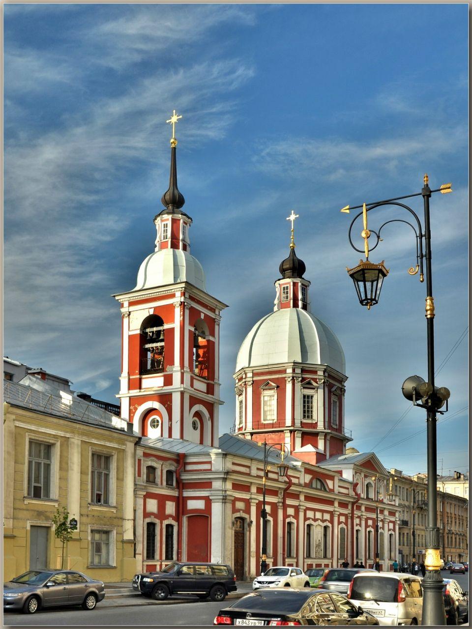 Pestel Street in Saint Petersburg, Russia