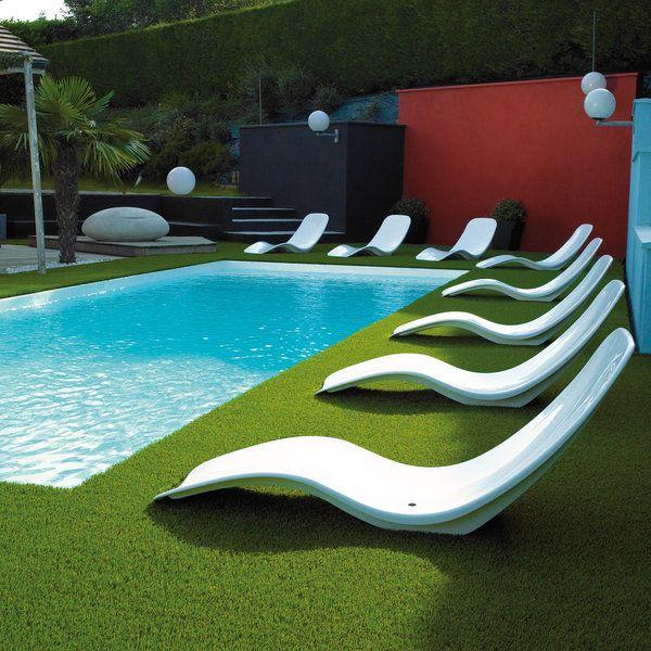 aménagement pourtour piscine avec gazon synthétique! Jardins