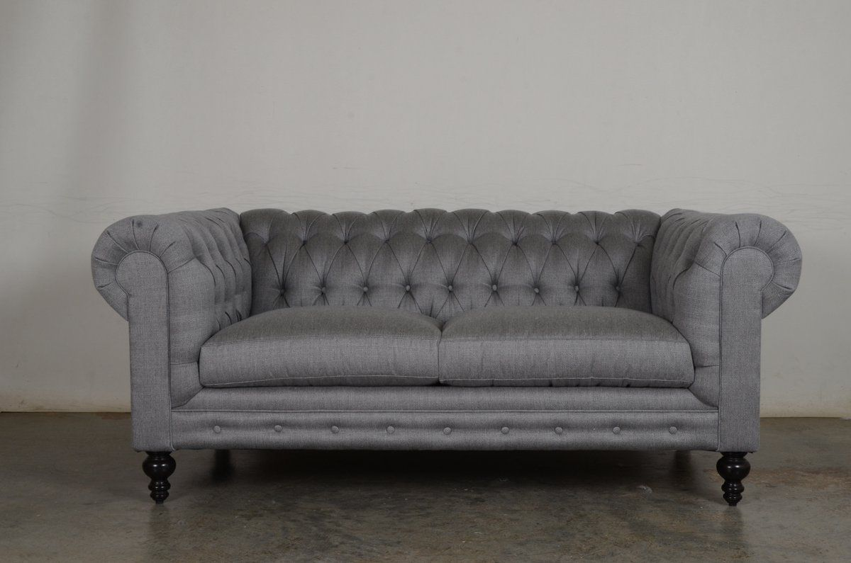 An Exquisite Cleanable Gray Sofa Our Classic Chesterfield In