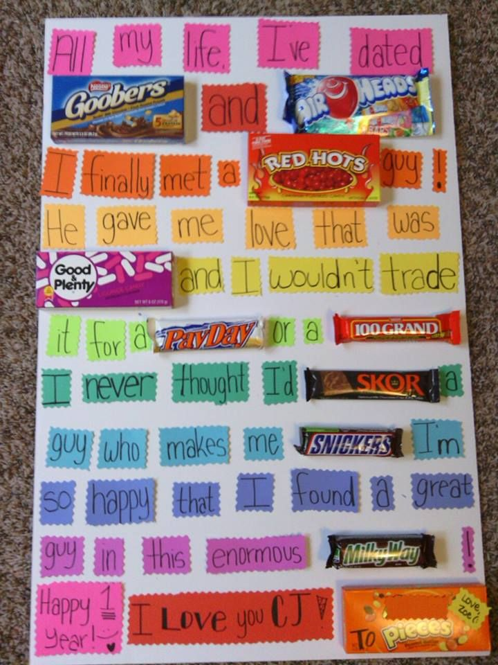 Cute, cheesy poster for your boyfriend. Graduation gifts