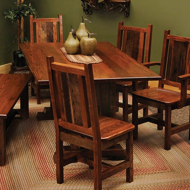 Rustic Kitchen Tables And Chairs: Rustic Dining Room Table And Chairs