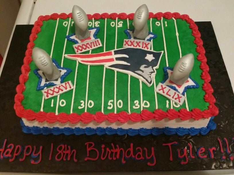 New England Patriots Birthday Cake Cakes Michelle Price In 2018