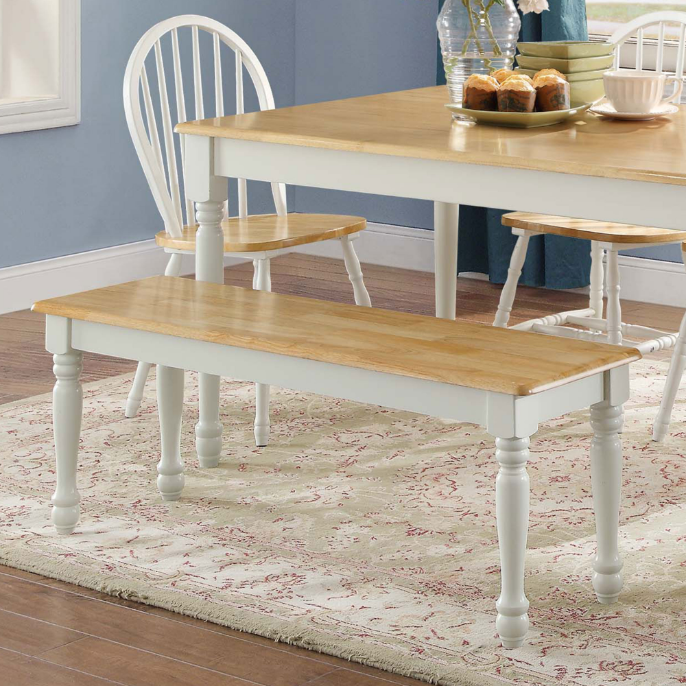 Wood Dining Bench, White Dining Room Table Bench