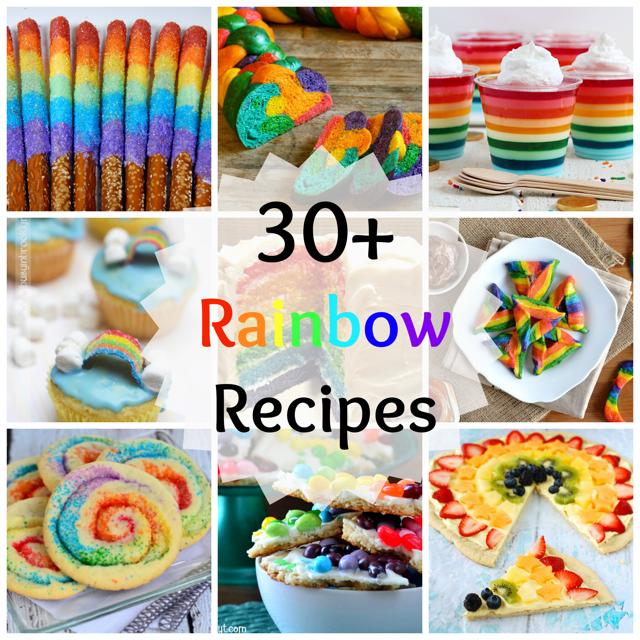 Over 30 rainbow recipes! Rainbow cake, rainbow cookies, rainbow bagels!