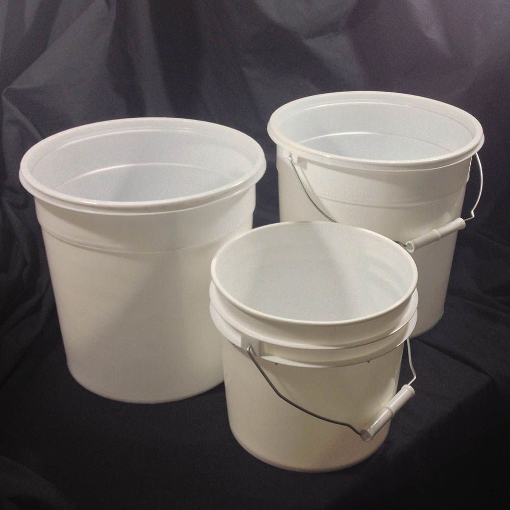 Round Plastic Buckets 1gallon 2 5 Gallon Sizes Yankee Containers Drums Pails Cans Bottles Jars Jugs A Food Grade Buckets Plastic Pail Plastic Buckets