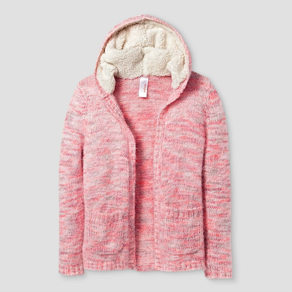 09cb02997 Girls  Open Cardigans Cat   Jack - Pink M