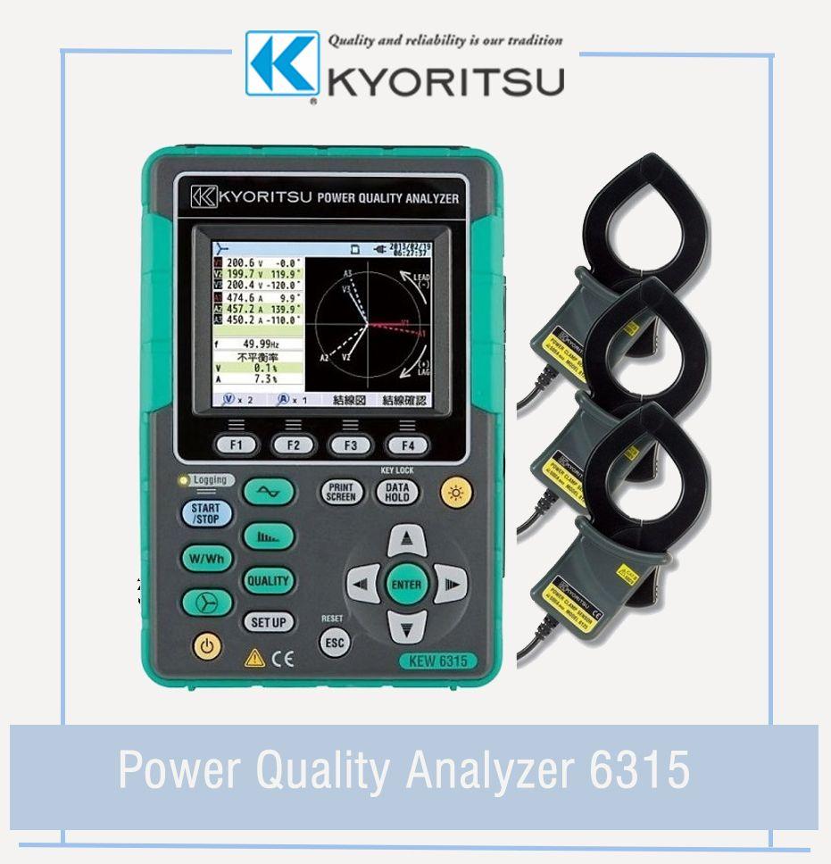 Kyoritsu Power Quality Analyzer Kew 6315 Simultaneous Recording Of Power Power Quality Measurements In One Survey The Perfect Tool Kew Power Save Energy