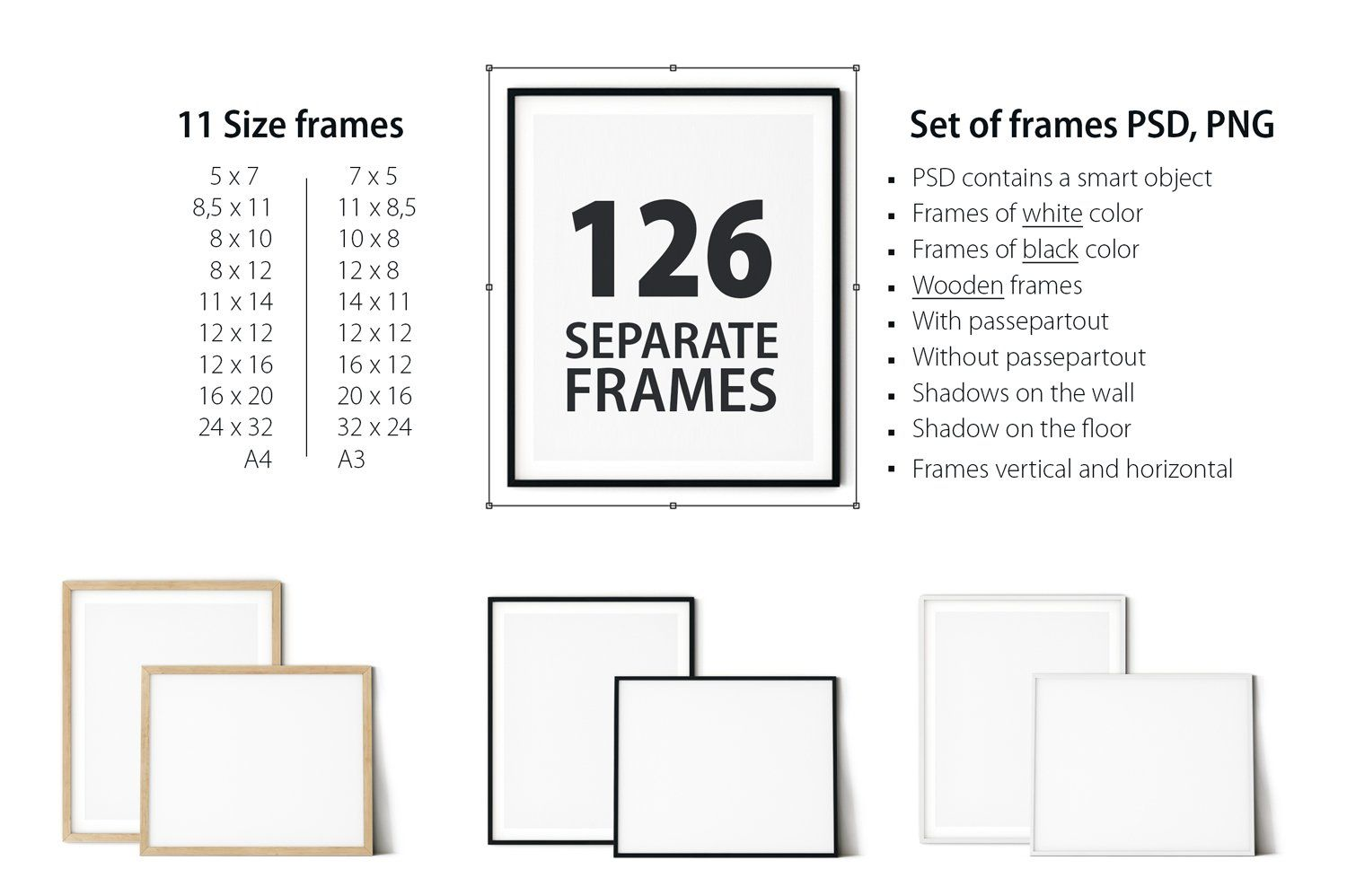 Frame Mockup Bundle Vol 3 Frames On Wall Kids Frames Frame Mockups