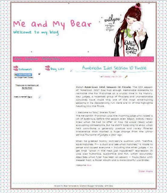Another cute blogger template/linda plantilla de Blogger for you, Me ...