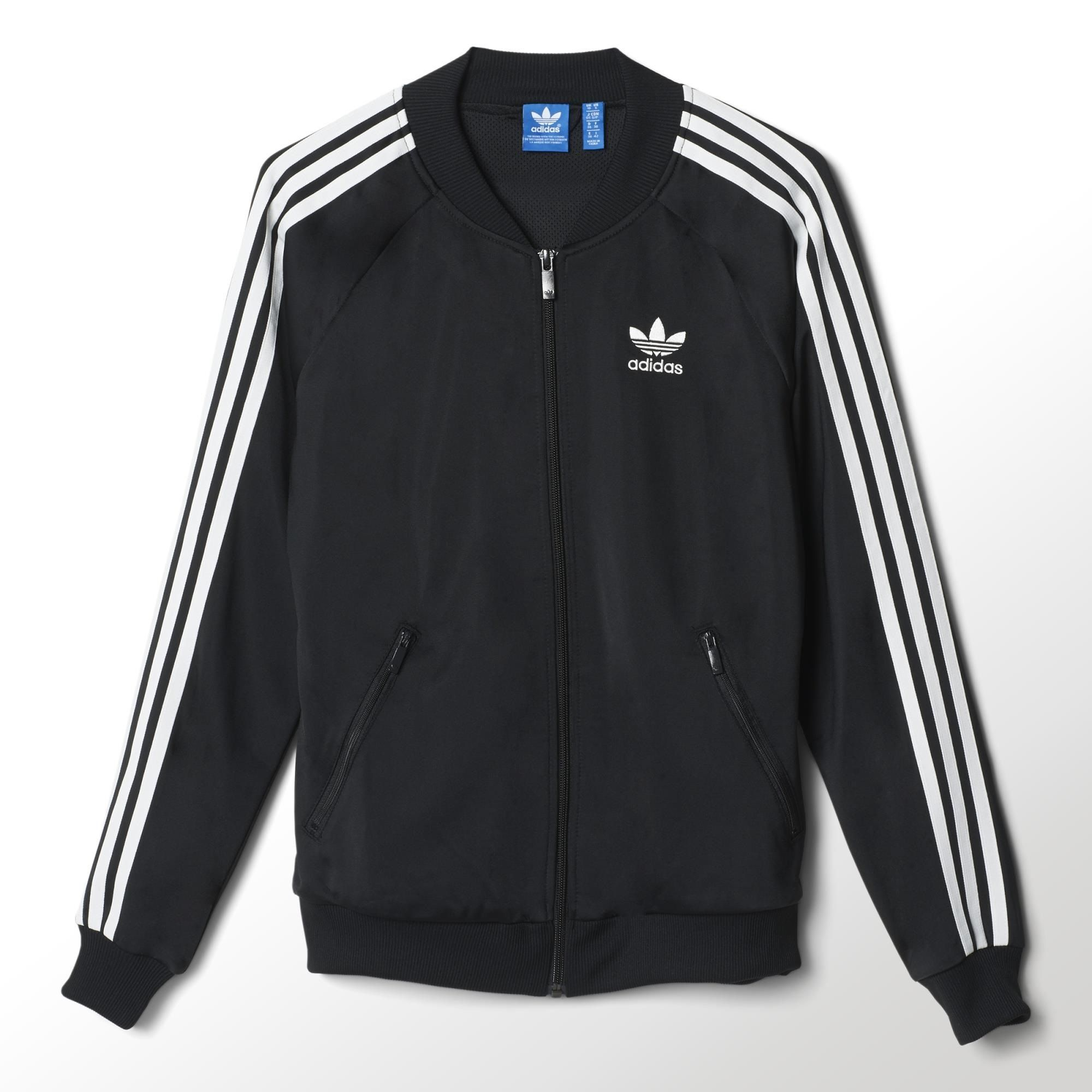 65932d8c06a347 This women s Superstar Track Top is a one-to-one reissue of one of adidas   most iconic styles. The track jacket comes in shiny tricot with all the  authentic ...