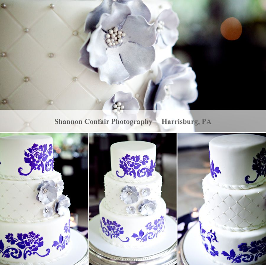 purple wedding cake by @jasmine clouser couture cakery | My ...