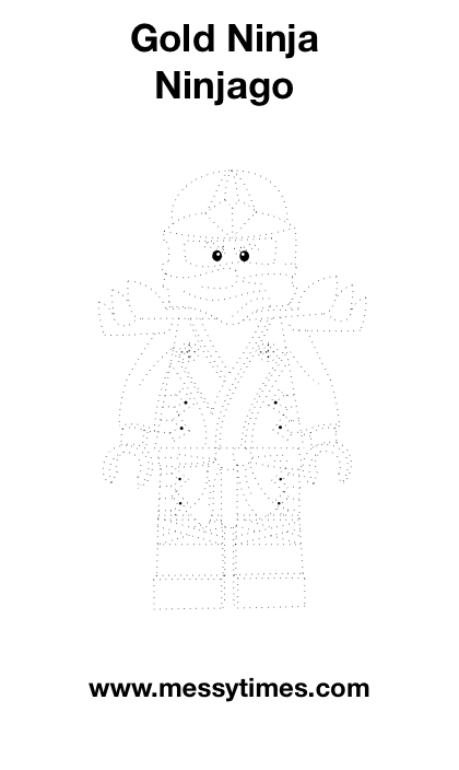 Lego Gold Ninjago Tracing Activity Party Ideas Lego
