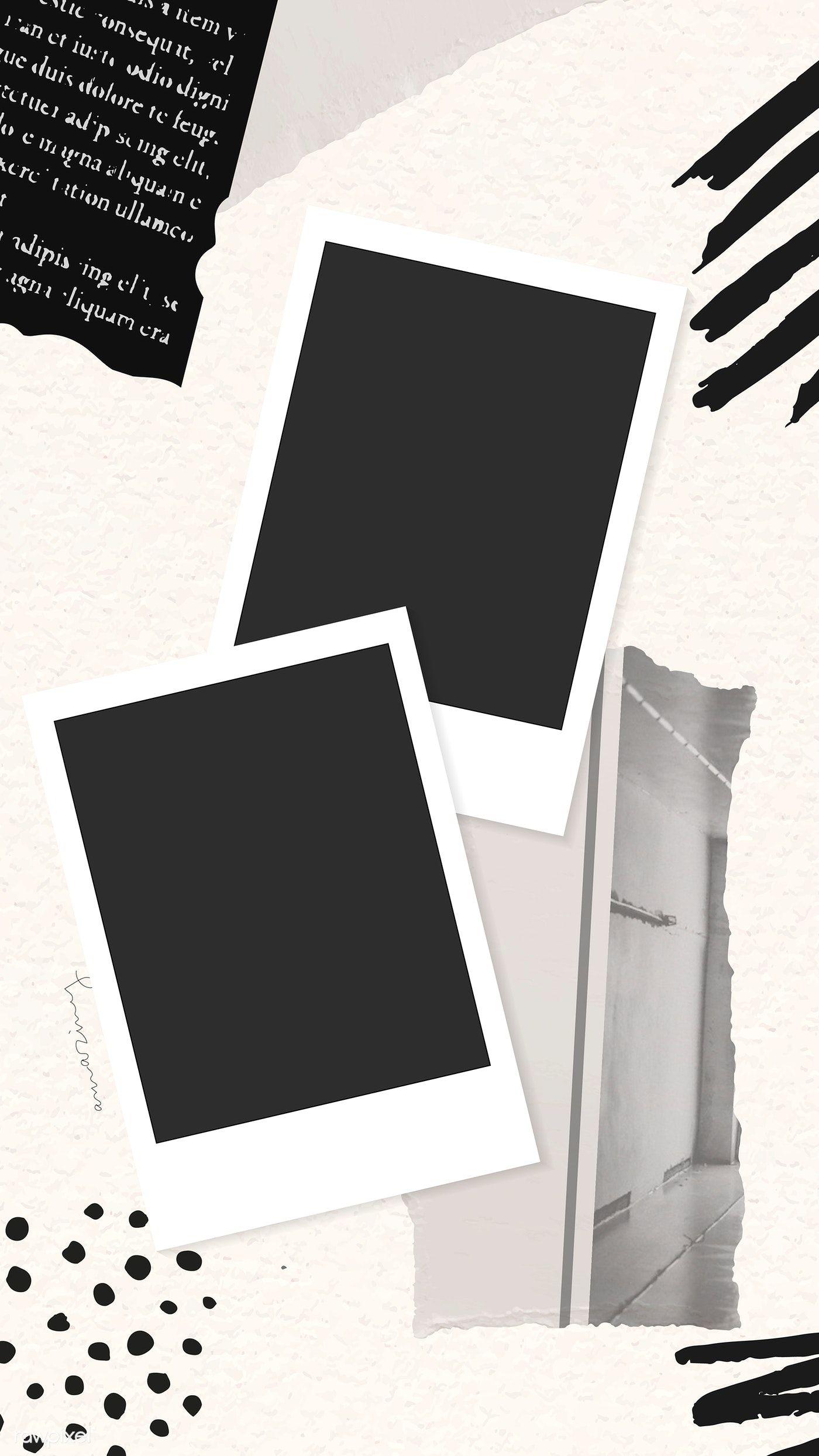 Download Premium Vector Of Collage Of Photos And Ripped Paper Phone Screen Bingkai Foto Kartu Pernikahan Kartu Ulang Tahun Buatan Tangan