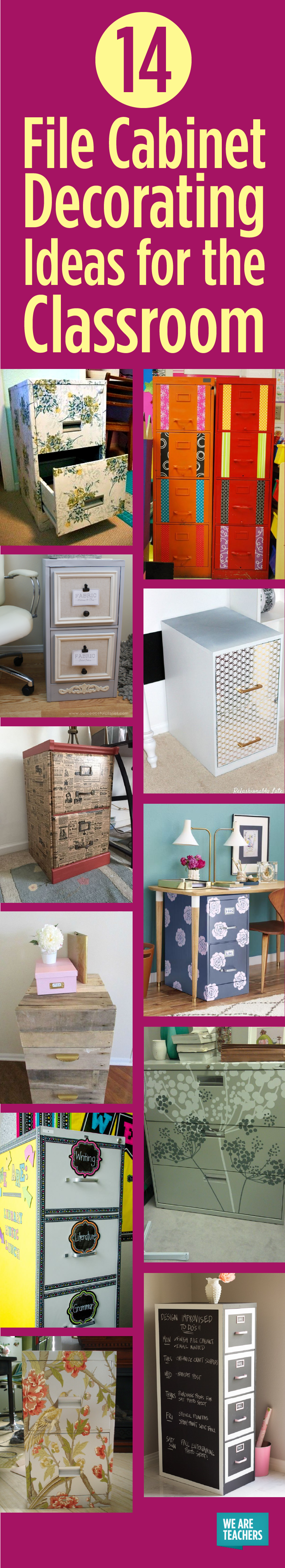 14 File Cabinet Decorating Ideas for the