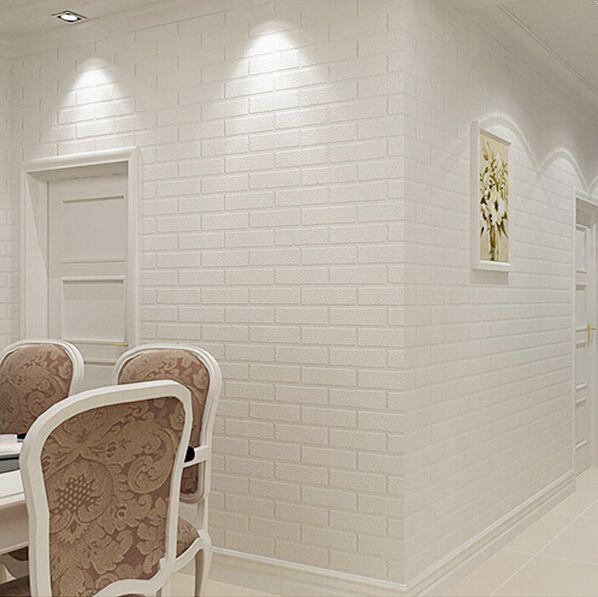Pvh Vinilovye Sgusheniya Kirpich Oboi Dlya Sten Derevenskij Tv Fone Kirpichnoj Steny Rulony B Vinyl Wall Covering White Brick Wall Living Room Brick Interior Wall