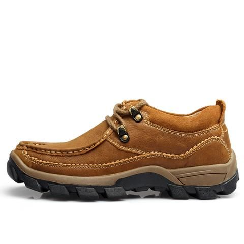 Photo of [EBay] Odmorp Men'S Shoes Brown Casual Genuine Leather Shoes…