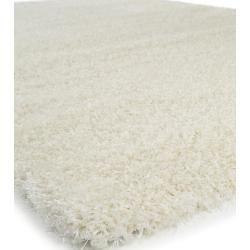 benuta Essentials Hochflor Shaggyteppich Sophie Weiß 120×170 cm – Langflor Teppich für Wohnzimmerben