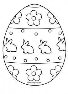 Easter Template Page 4 Of 5 Have Fun With Free Printables Easter Templates Coloring Easter Eggs Easter Egg Template Easter Kids