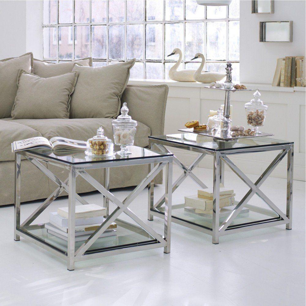 Loberon Beistelltisch Stamford Silber Klar Edelstahl Platte Boden Glas Amazon De Kuche Haushalt Silberne Mobel Wohnzimmertische Tisch