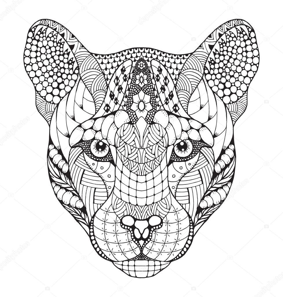 Zentangle Lion Coloring Pages Geometric Lion Lion Art Lion Tattoo