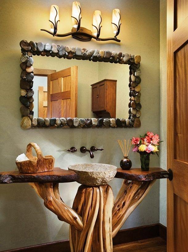 baños rusticos decoracion baños Pinterest Baños rústicos