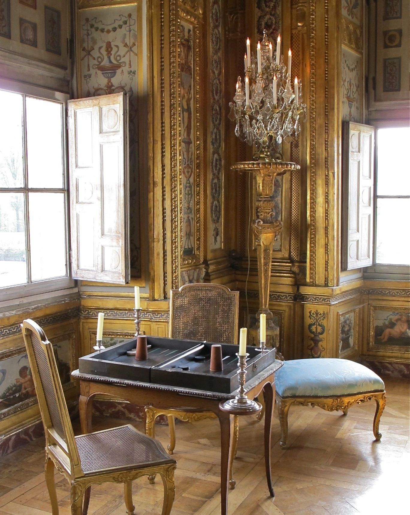 Chair table 17th century - French 17th Century Architecture And D Cor Chateau Vaux Le Vicomte It Is A Baroque