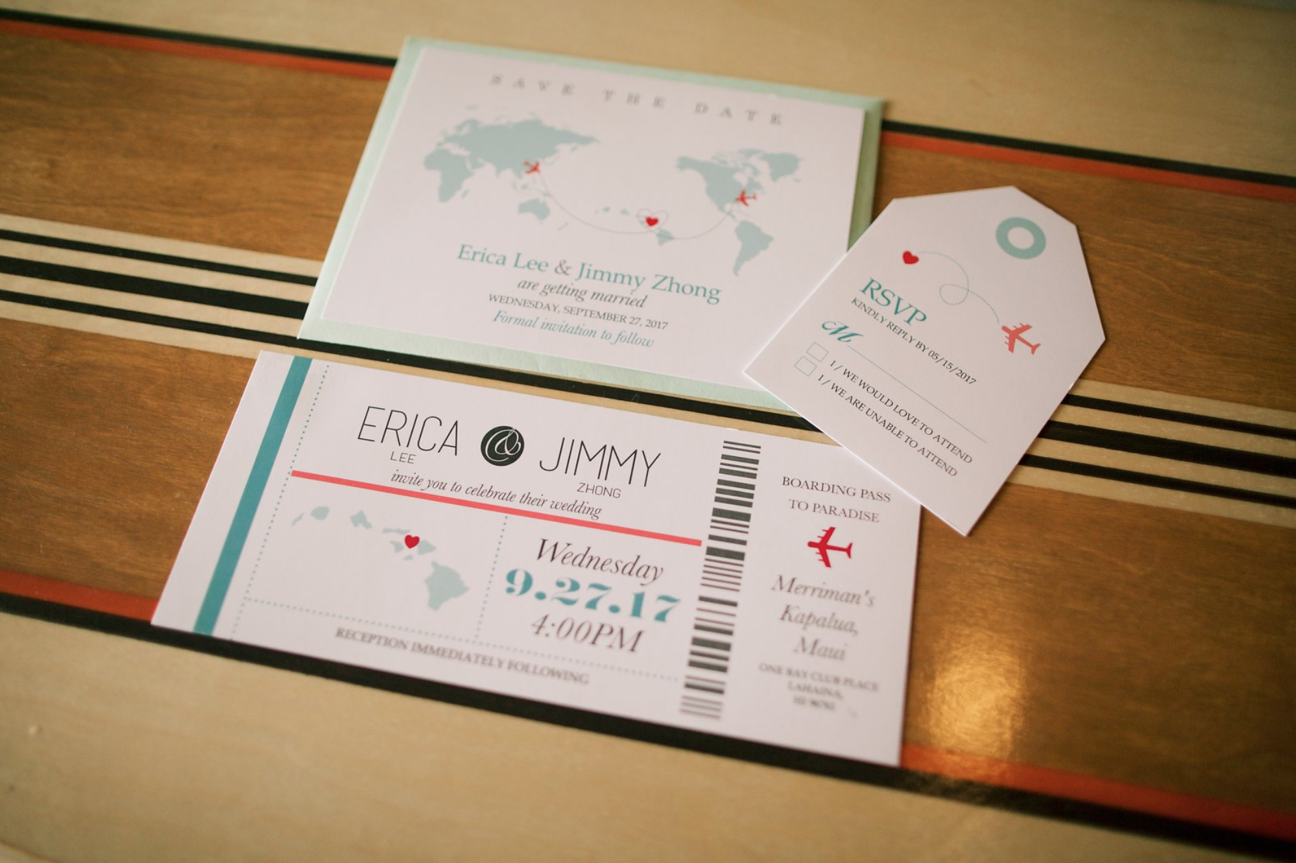 Travel Inspired Wedding Invitations | Invitation Suites | Pinterest ...