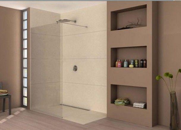 Inloopdouche Met Tegels : Badkamer inloopdouche met tegels en stucwerk door