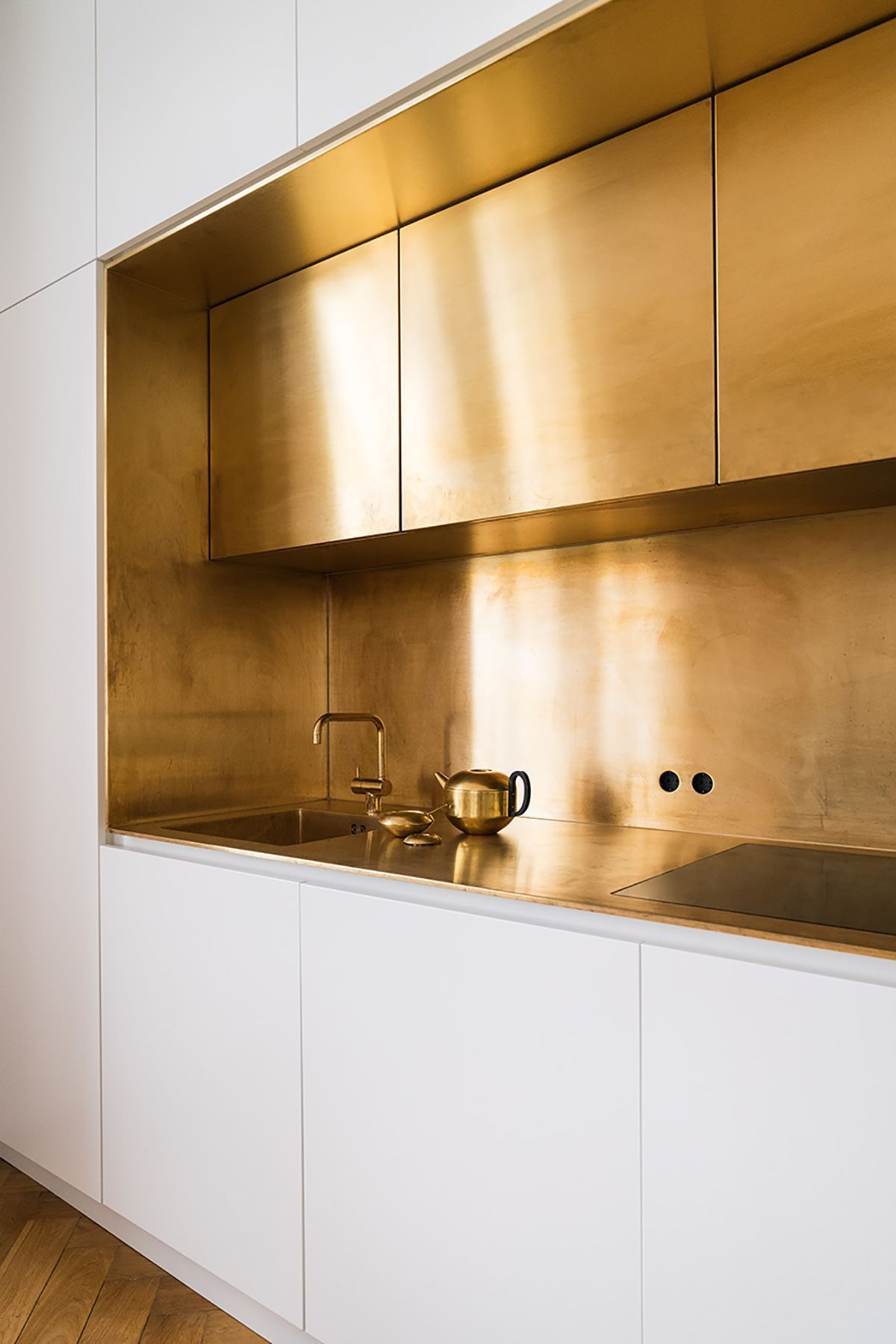 Gold Kitchen Cupboards Splash Back And Surfaces In 2019 Future