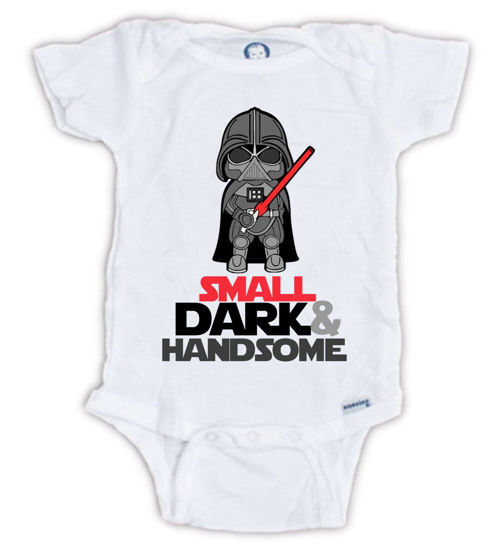 Cute STAR WARS Darth Vader Baby esie by JujuApparel on Etsy baby