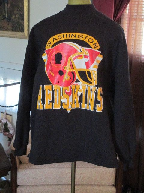 Vintage Washington Redskins NFL Inertia Black Sweatshirt- Womens Size XL (18 ) cc3f072e1