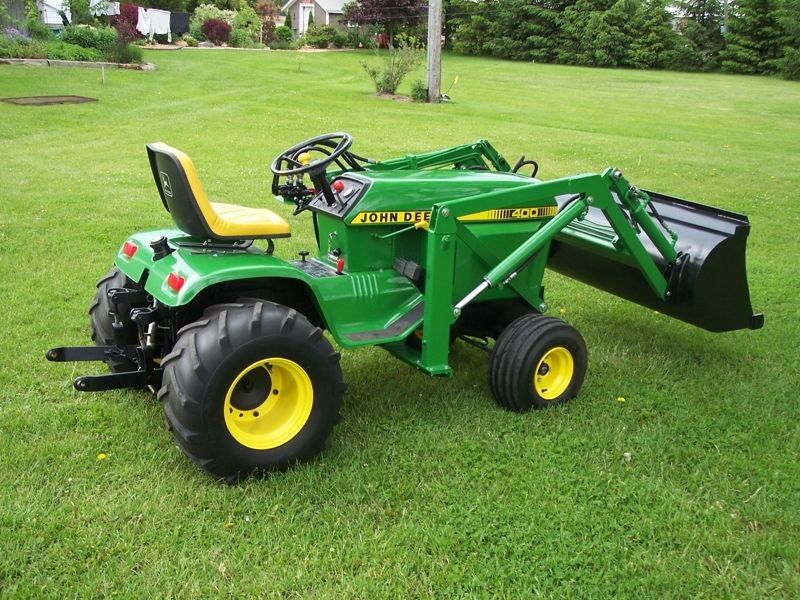 JD 400 with loader | John Deere lawn and garden | Pinterest ...