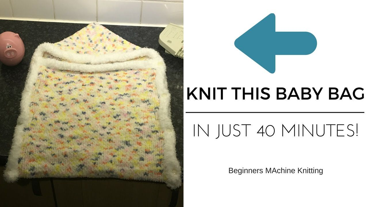 Join me as I show you how to knit a beautiful baby bunting (sleeping ...