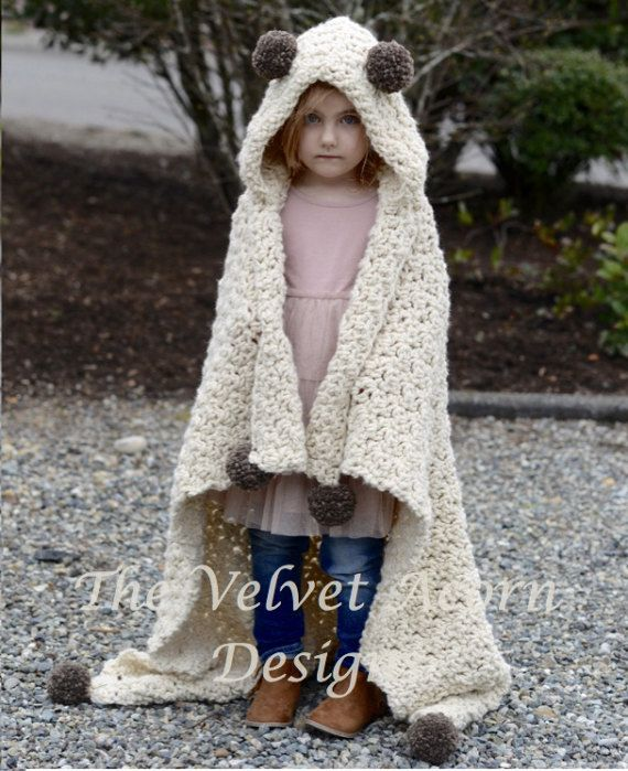 CROCHET PATTERN - Bronson Hooded Blanket (x-small, small, medium ...