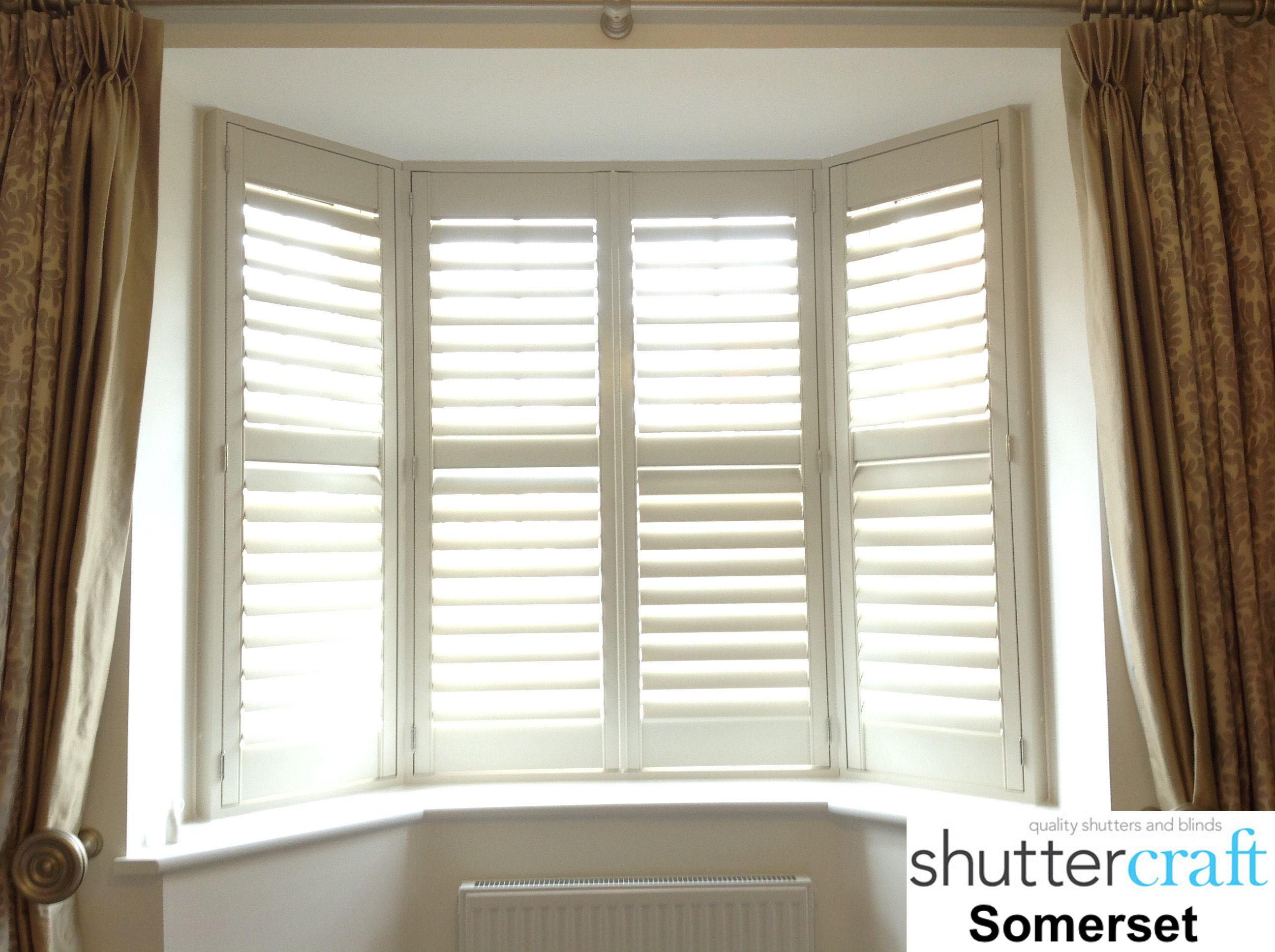 Bay window installation control the light our shutters make the