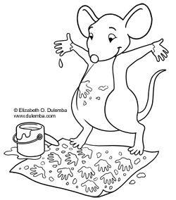 Coloring Page Tuesday Painting Mouse Mouse Paint Mouse Paint